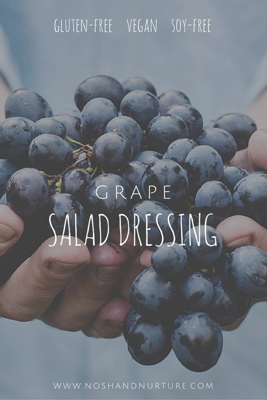 Vegan Grape Salad Dressing | Nosh and Nurture