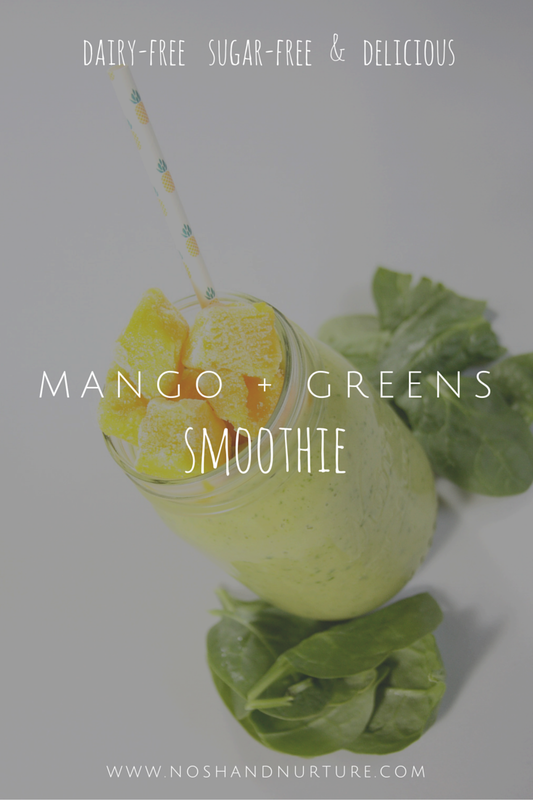Mango and Greens Smoothie | Nosh and Nurture