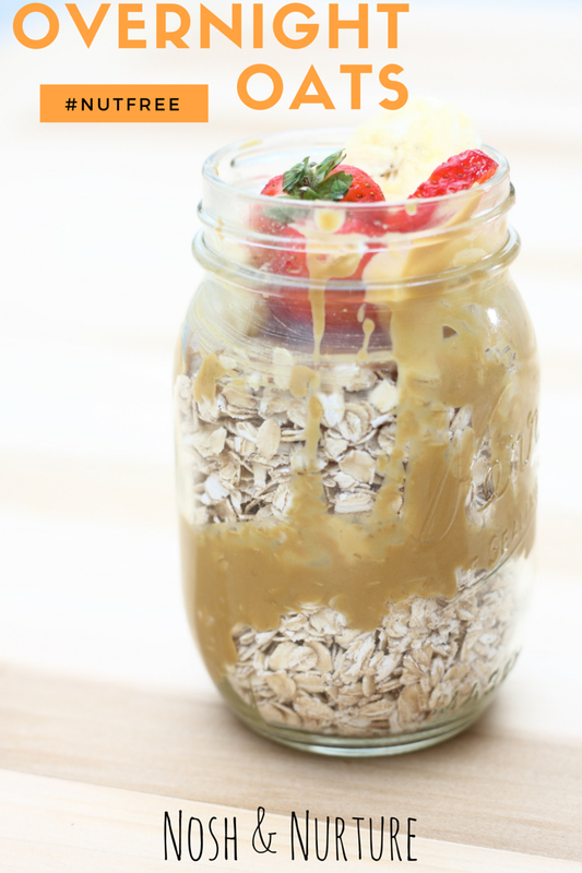 Nut Free Overnight Oats | Nosh and Nurture